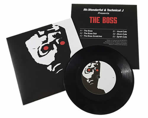 The Boss - Vinyl Grime scratch 7 inch record